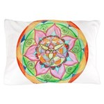 Orange Mandala Pillow Case