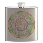 Orange Mandala Flask