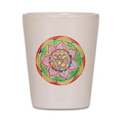 Orange Mandala Shot Glass