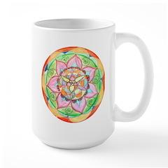 Orange Mandala Mugs