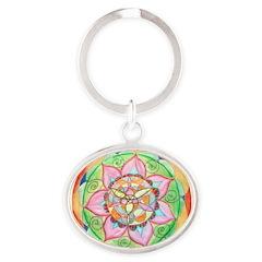 Orange Mandala Keychains