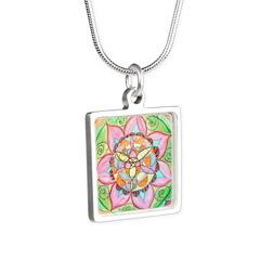Orange Mandala Necklaces