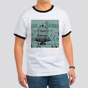 french scripts vintage birdcage T-Shirt
