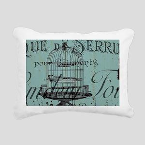 french scripts vintage b Rectangular Canvas Pillow