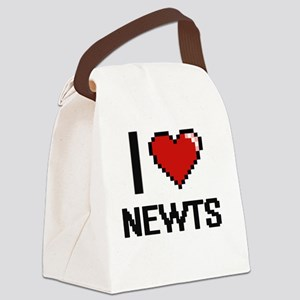 I Love Newts Canvas Lunch Bag