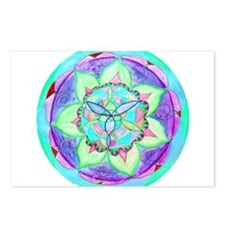 Cyan Mandala Postcards (Package of 8)