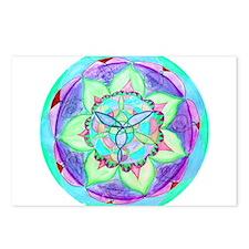 Cyan Mandala Postcards (Package of 8)