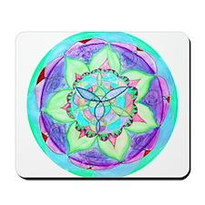 Cyan Mandala Mousepad