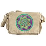 Cyan Mandala Messenger Bag