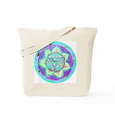 Cyan Mandala Tote Bag