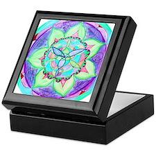 Cyan Mandala Keepsake Box
