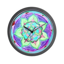 Cyan Mandala Wall Clock