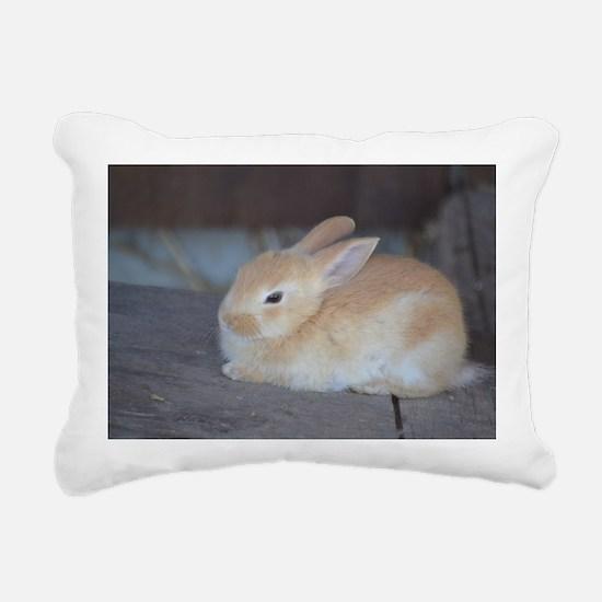 Cool Bunny Rectangular Canvas Pillow
