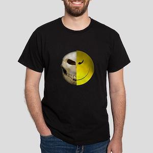 Half Smiley Skull Dark T-Shirt