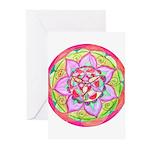 Rose Mandala Greeting Cards
