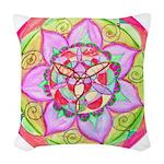 Rose Mandala Woven Throw Pillow