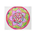 Rose Mandala Throw Blanket