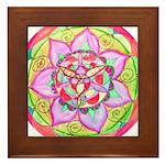 Rose Mandala Framed Tile