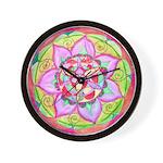 Rose Mandala Wall Clock