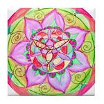 Rose Mandala Tile Coaster