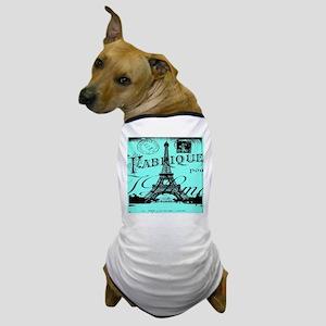 turquoise eiffel tower paris Dog T-Shirt