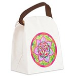 Rose Mandala Canvas Lunch Bag