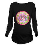 Rose Mandala Long Sleeve Maternity T-Shirt