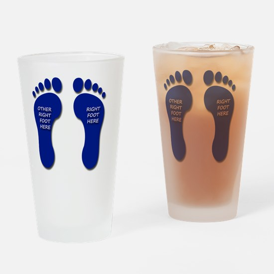 Two Right Feet Drinking Glass