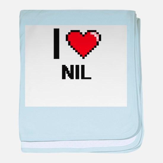 I Love Nil baby blanket