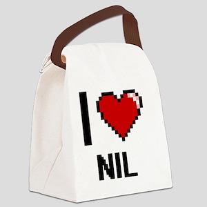 I Love Nil Canvas Lunch Bag