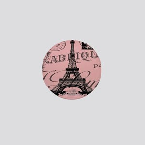 modern girly pink paris Mini Button