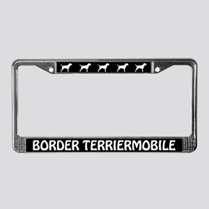 Border Terriermobile License Plate Frame