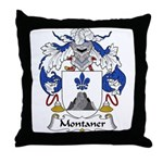 Montaner Family Crest Throw Pillow