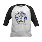 Montaner Family Crest Kids Baseball Jersey