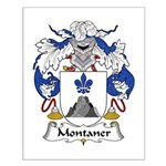 Montaner Family Crest Small Poster