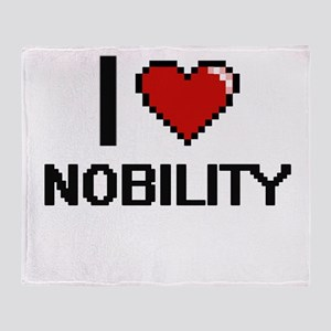 I Love Nobility Throw Blanket