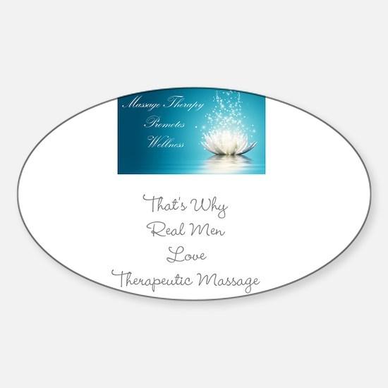 Cute Therapeutic massage Sticker (Oval)