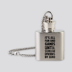 All fun and games until someone div Flask Necklace