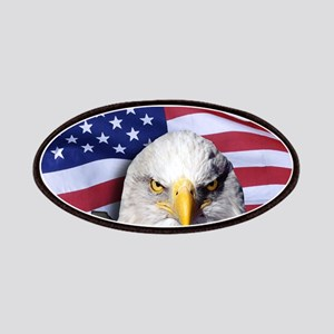 Bald Eagle Over American Flag Patch