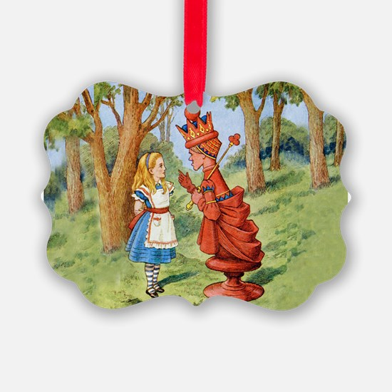 Alice and the Red Queen in Wonder Ornament