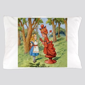 Alice and the Red Queen in Wonderland Pillow Case