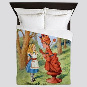 Alice and the Red Queen in Wonderland Queen Duvet