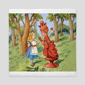 Alice and the Red Queen in Wonderland Queen Duvet