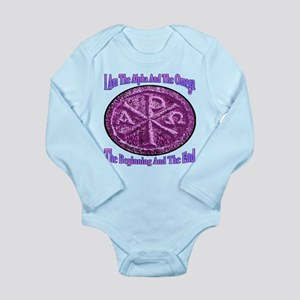 Chi Rho Alpha Omega Long Sleeve Infant Bodysuit