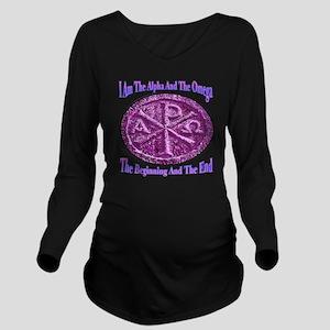 Chi Rho Alpha Omega Long Sleeve Maternity T-Shirt