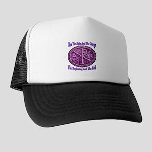 Chi Rho Alpha Omega Trucker Hat