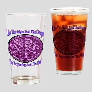 Chi Rho Alpha Omega Drinking Glass