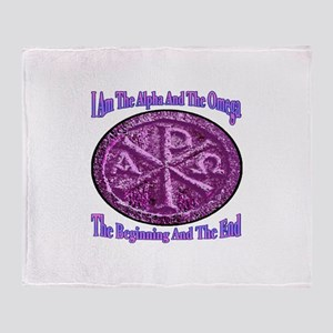 Chi Rho Alpha Omega Throw Blanket