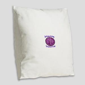 Chi Rho Alpha Omega Burlap Throw Pillow