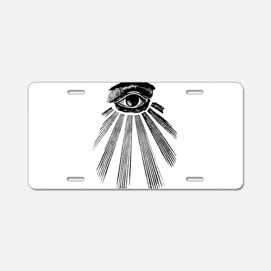 all seeing eye Aluminum License Plate
